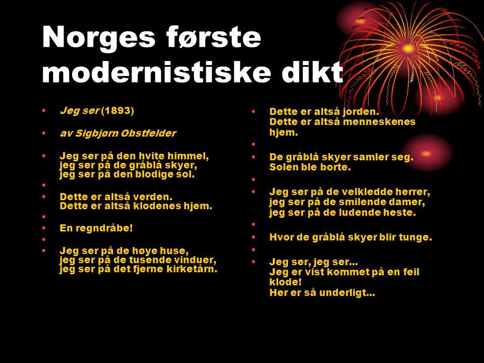 Norges første modernistiske dikt