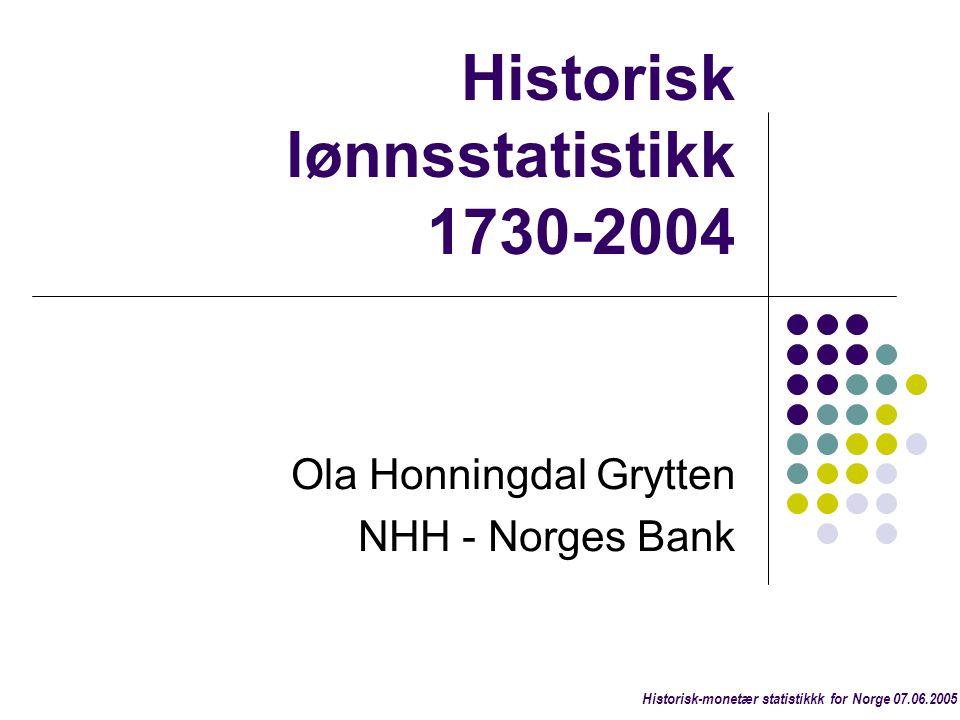 Historisk lønnsstatistikk 1730-2004