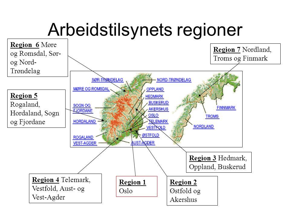 Arbeidstilsynets regioner