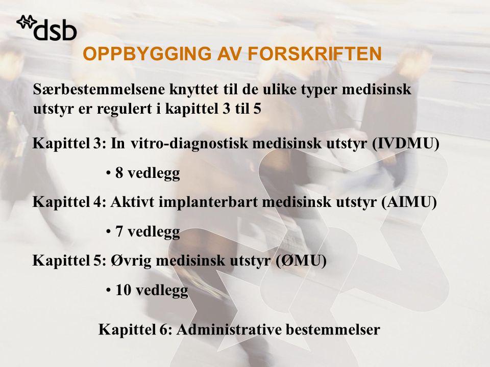 Kapittel 6: Administrative bestemmelser