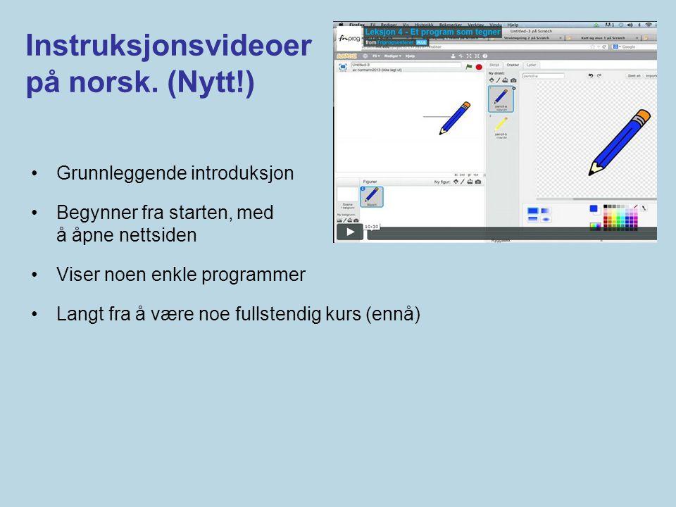 Instruksjonsvideoer på norsk. (Nytt!)