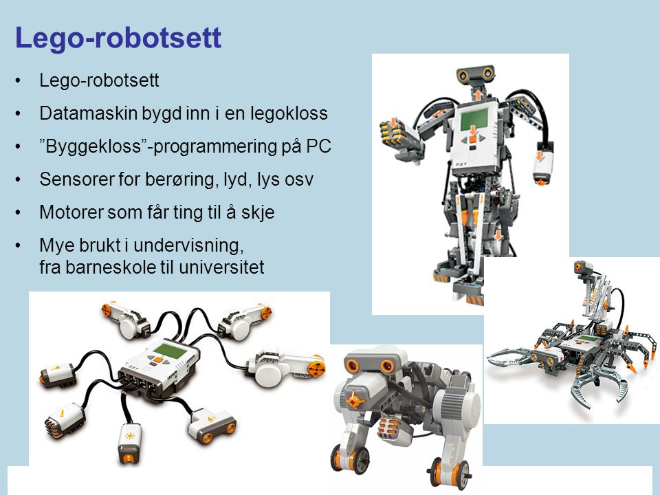 Lego-robotsett Lego-robotsett Datamaskin bygd inn i en legokloss