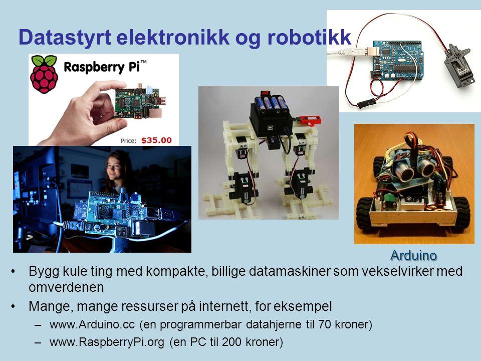 Datastyrt elektronikk og robotikk