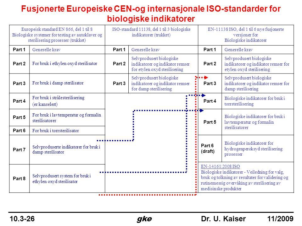 ISO-standard 11138, del 1 til 3 biologiske indikatorer (trukket)
