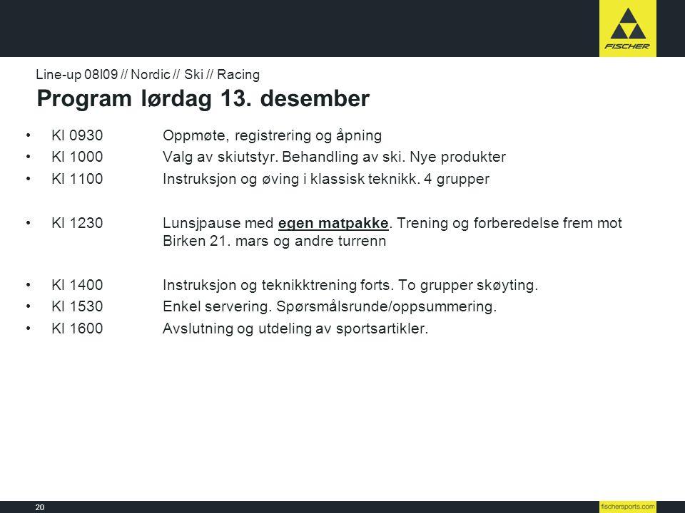 Program lørdag 13. desember