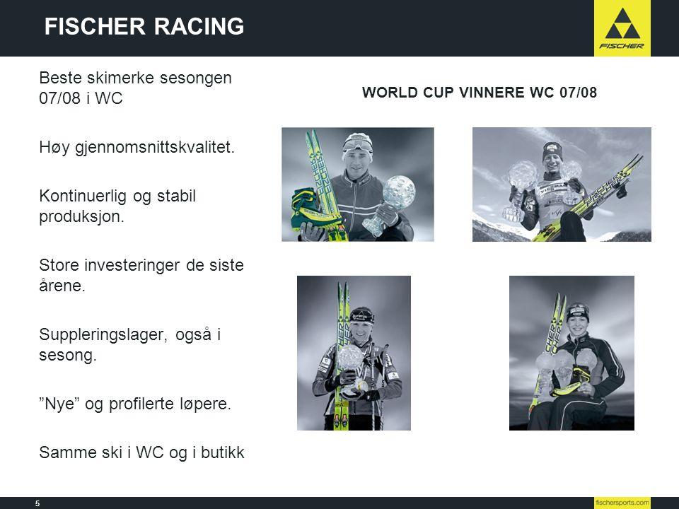 FISCHER RACING Beste skimerke sesongen 07/08 i WC