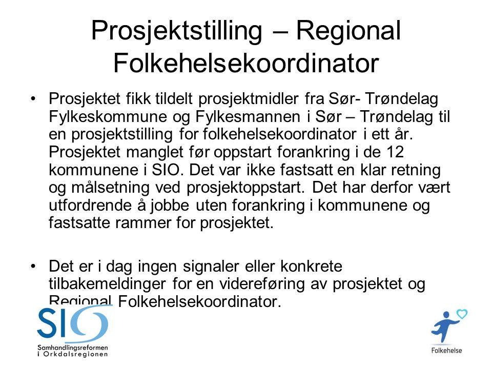 Prosjektstilling – Regional Folkehelsekoordinator