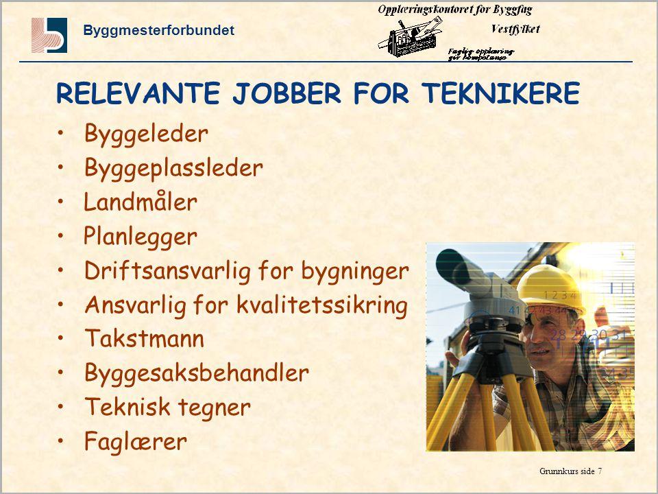 RELEVANTE JOBBER FOR TEKNIKERE