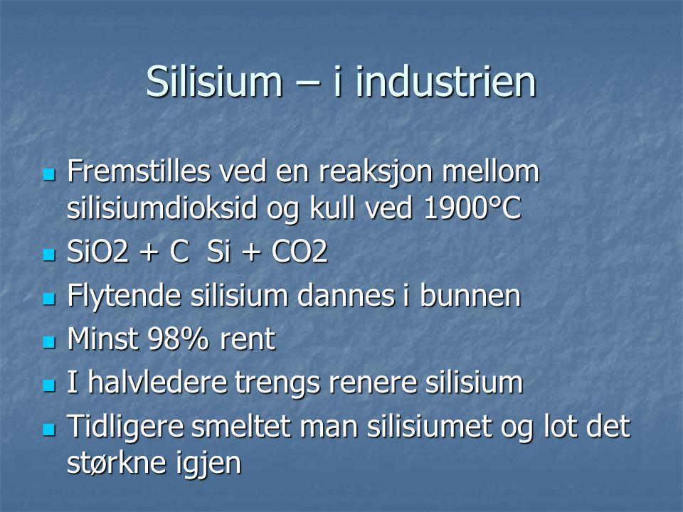 Silisium – i industrien