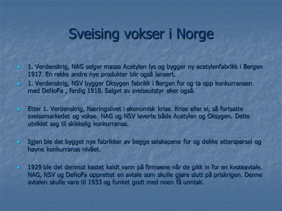 Sveising vokser i Norge