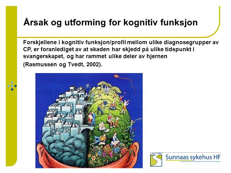Årsak og utforming for kognitiv funksjon