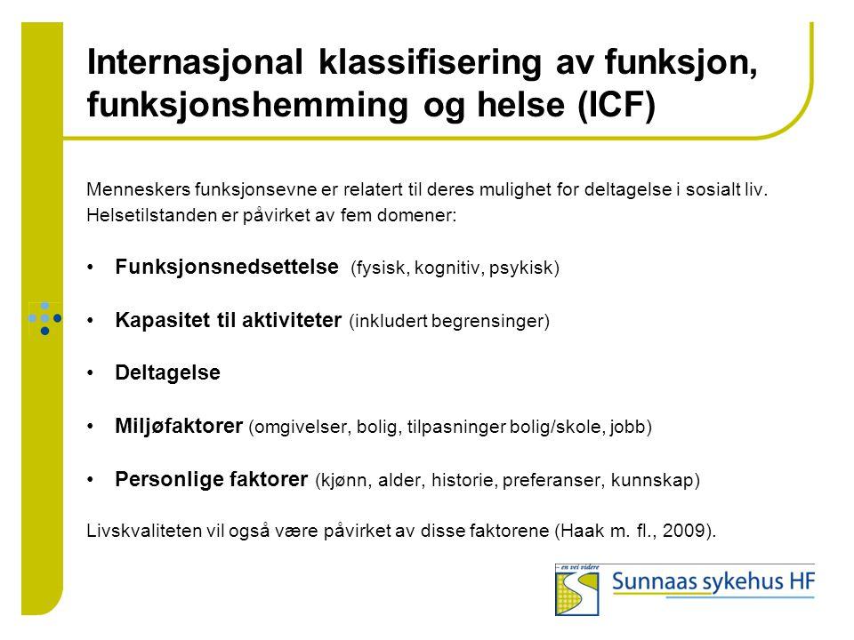 Internasjonal klassifisering av funksjon, funksjonshemming og helse (ICF)