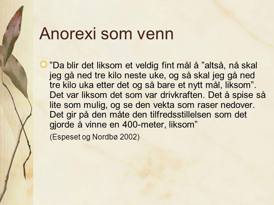 Anorexi som venn
