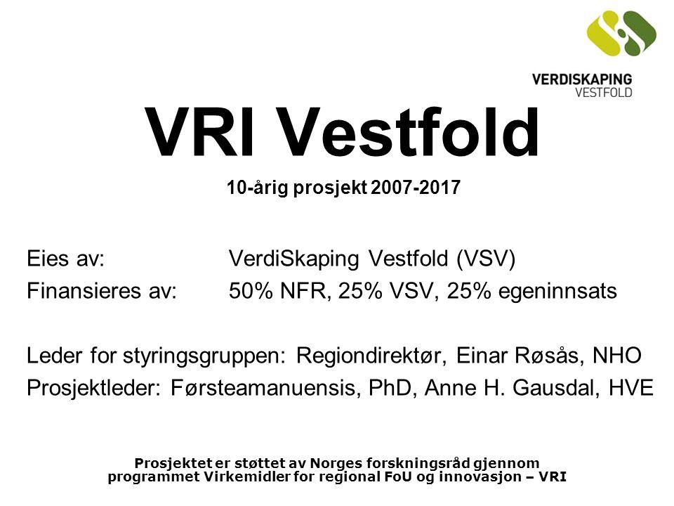 VRI Vestfold Eies av: VerdiSkaping Vestfold (VSV)