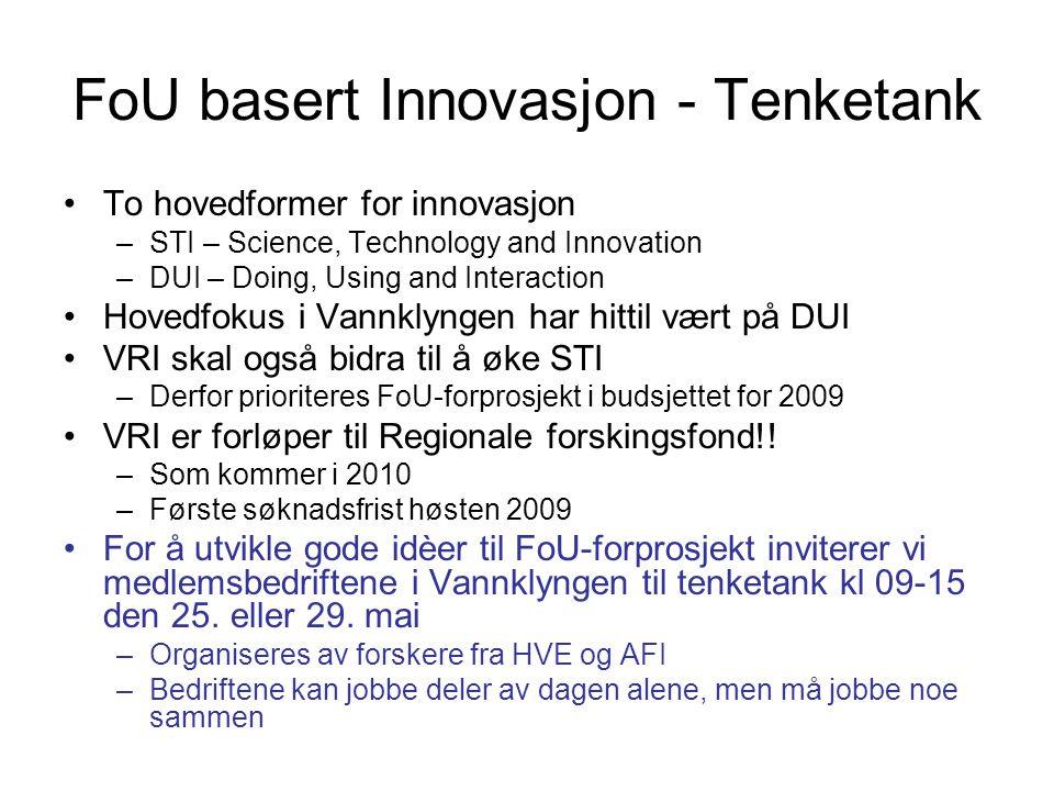 FoU basert Innovasjon - Tenketank