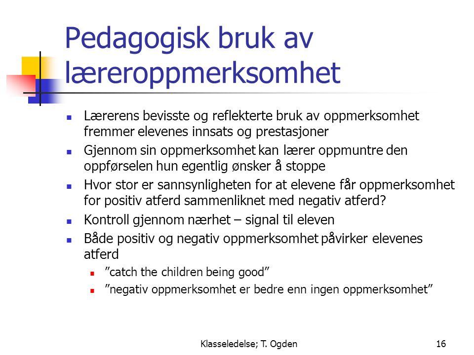 Pedagogisk bruk av læreroppmerksomhet