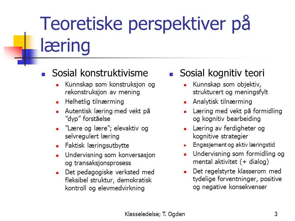 Teoretiske perspektiver på læring