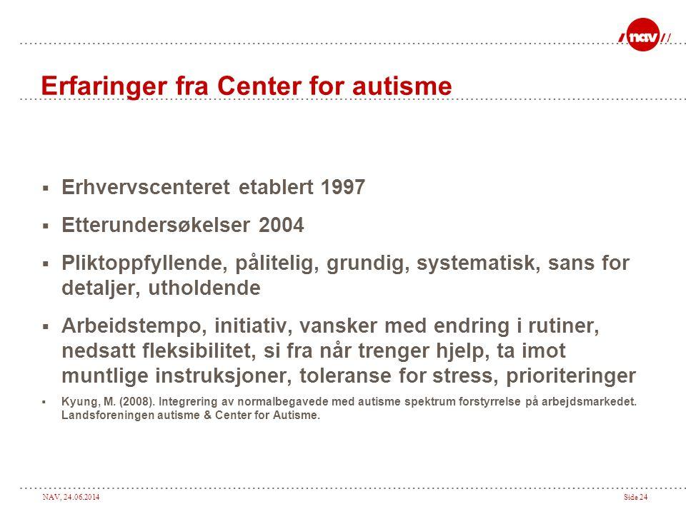 Erfaringer fra Center for autisme