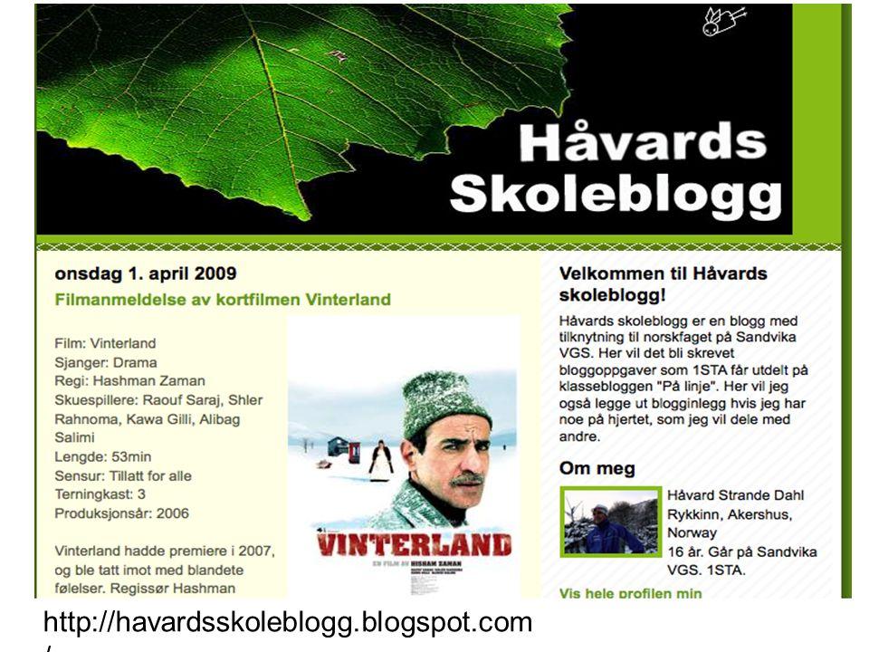 http://havardsskoleblogg.blogspot.com/