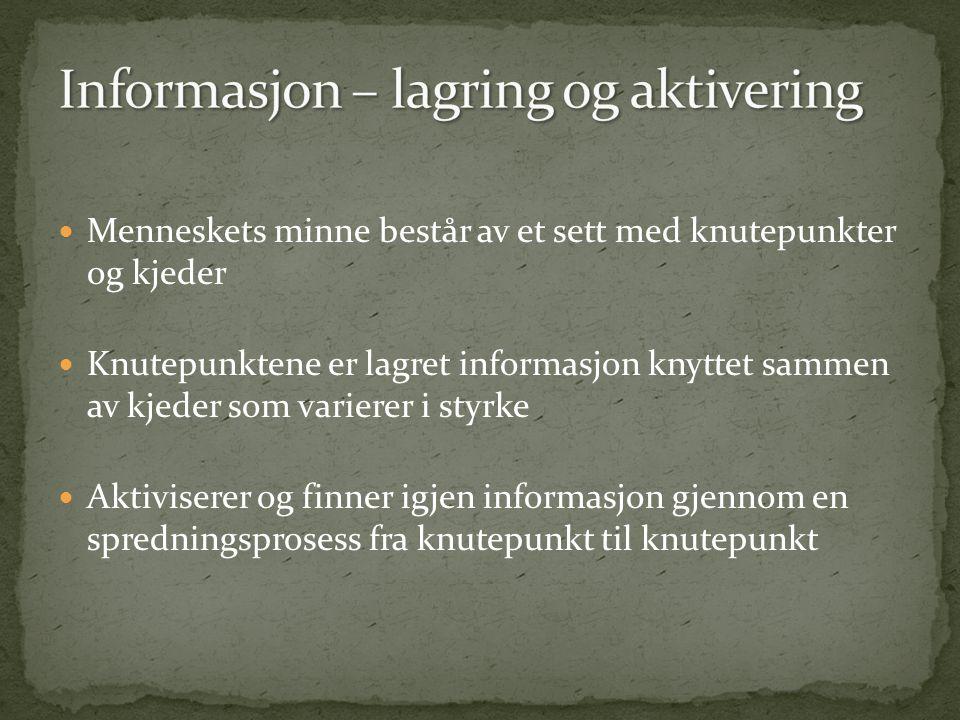 Informasjon – lagring og aktivering