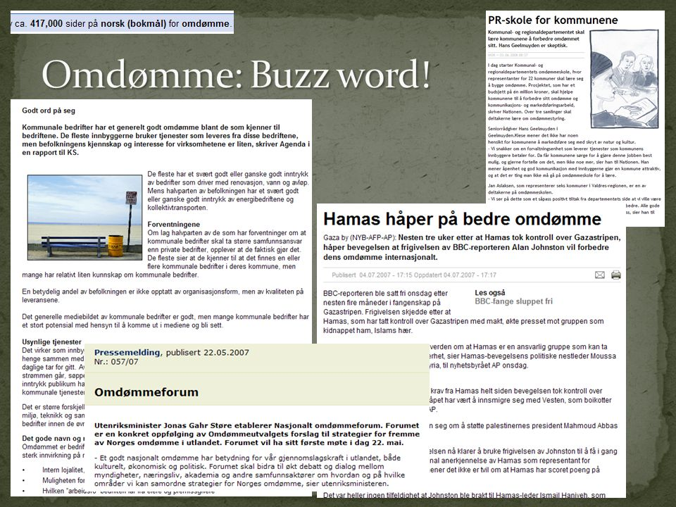 Omdømme: Buzz word!