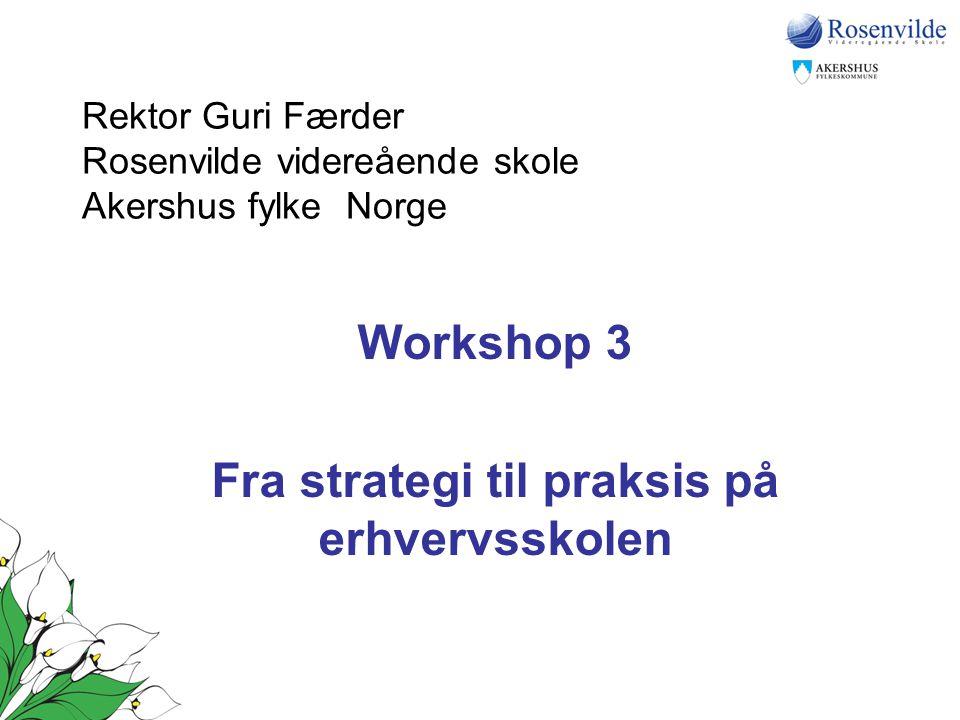 Rektor Guri Færder Rosenvilde videreående skole Akershus fylke Norge