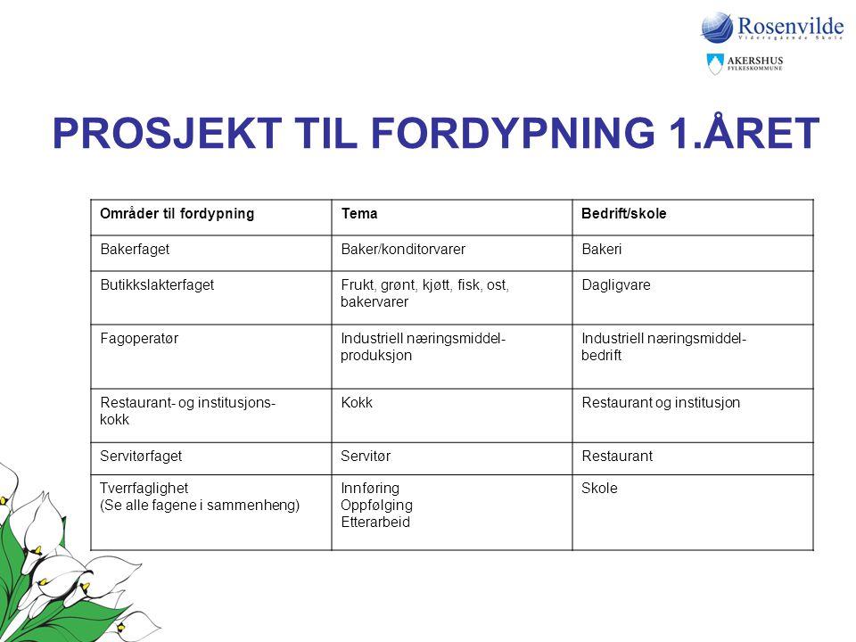 PROSJEKT TIL FORDYPNING 1.ÅRET