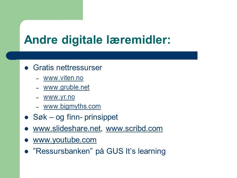 Andre digitale læremidler: