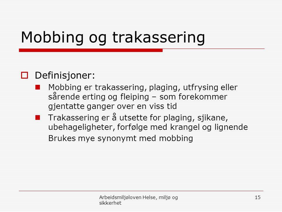 Mobbing og trakassering