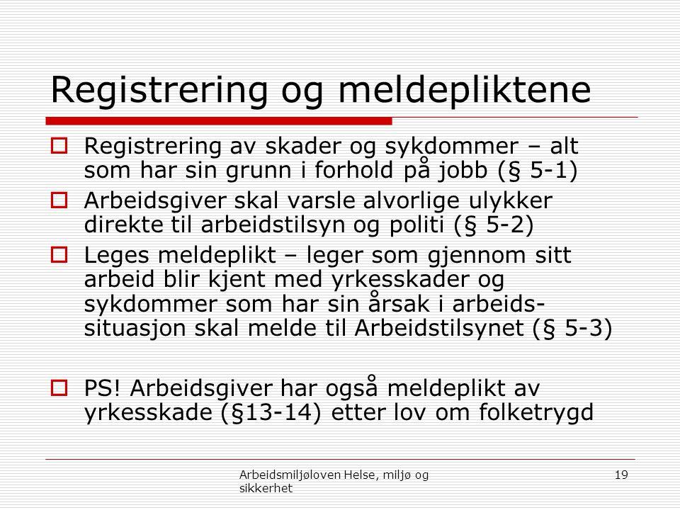 Registrering og meldepliktene