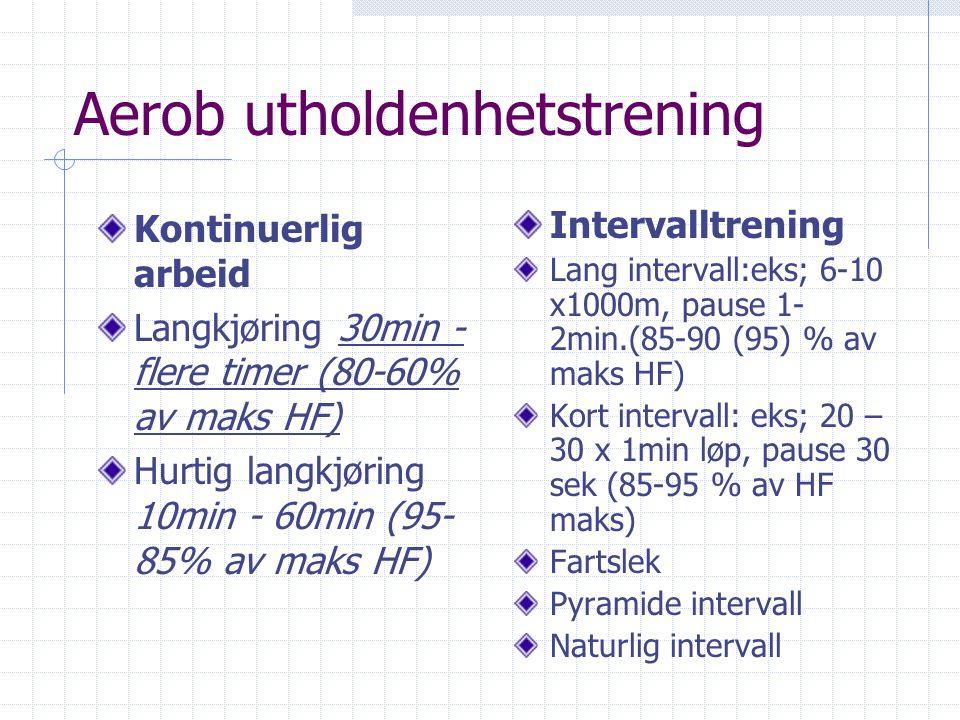 Aerob utholdenhetstrening