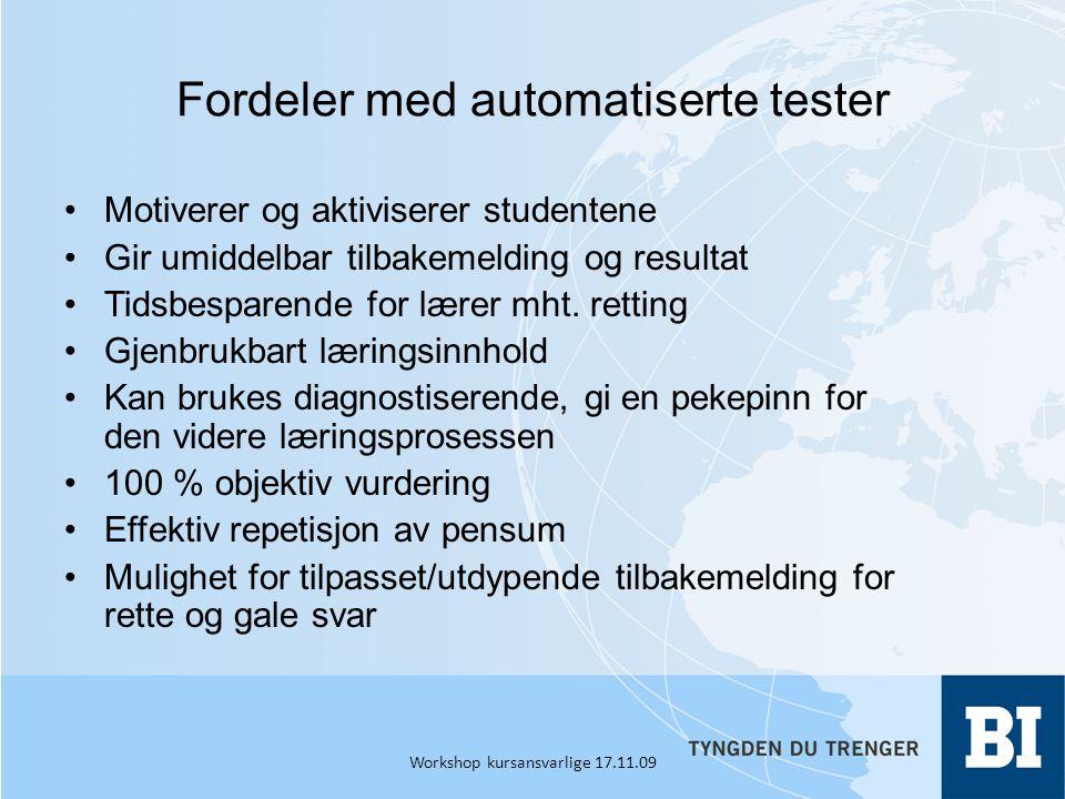 Fordeler med automatiserte tester