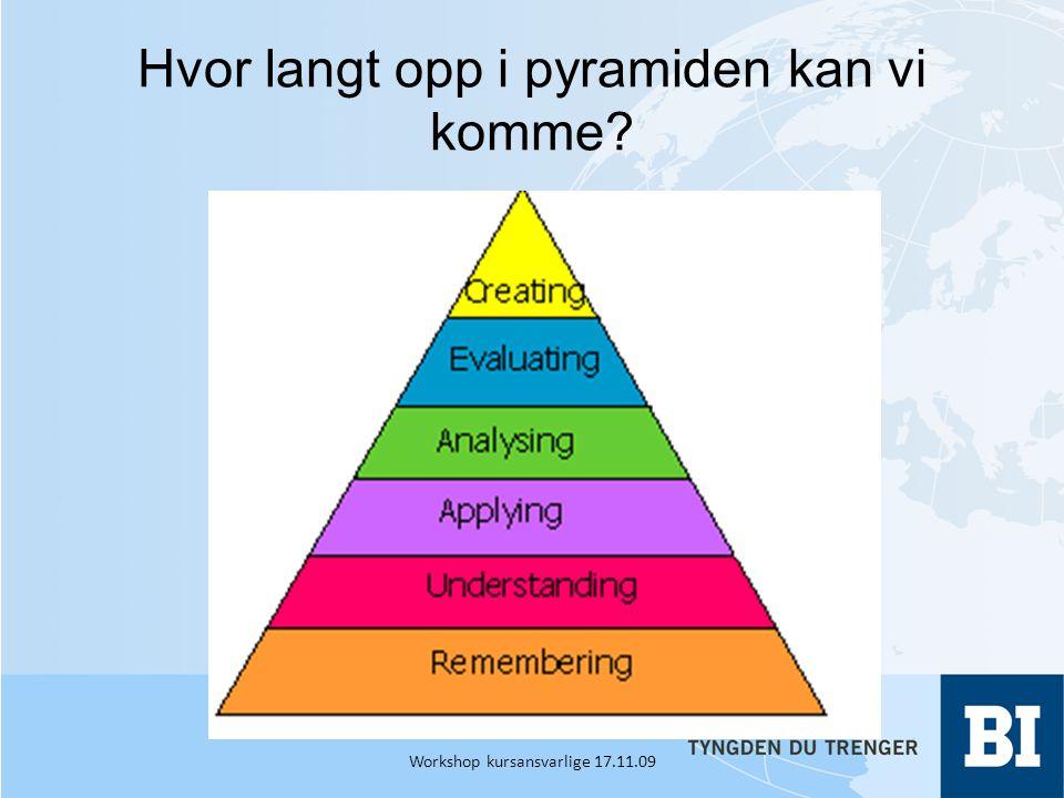 Hvor langt opp i pyramiden kan vi komme