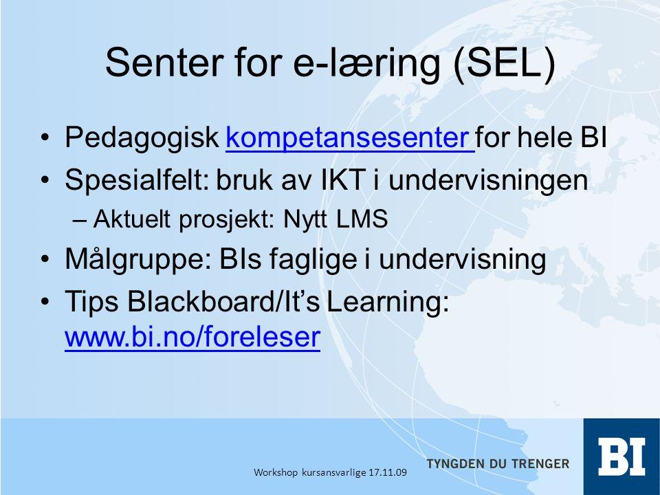 Senter for e-læring (SEL)