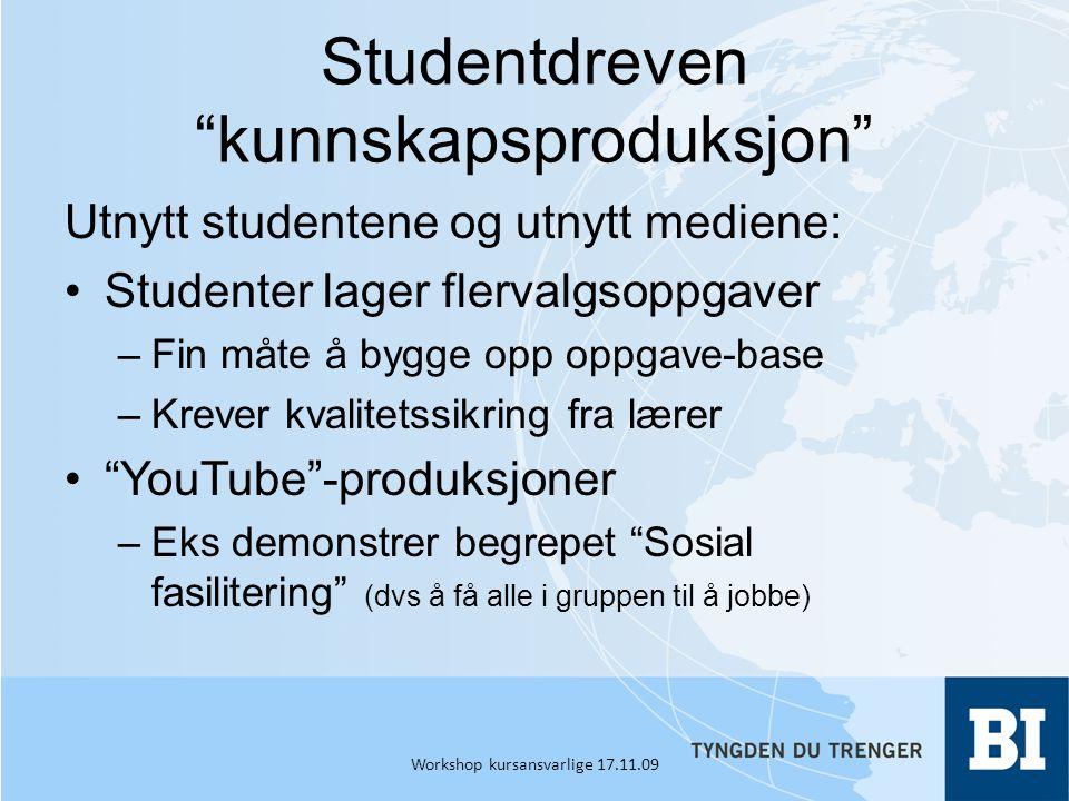 Studentdreven kunnskapsproduksjon