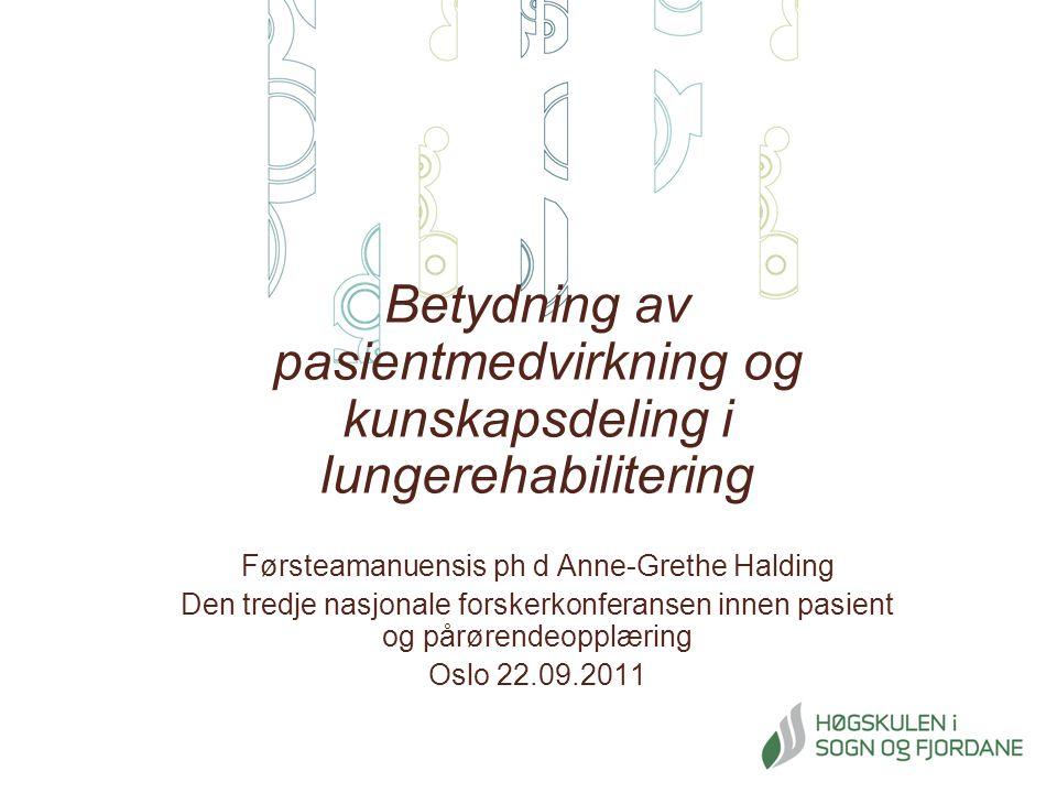 Førsteamanuensis ph d Anne-Grethe Halding