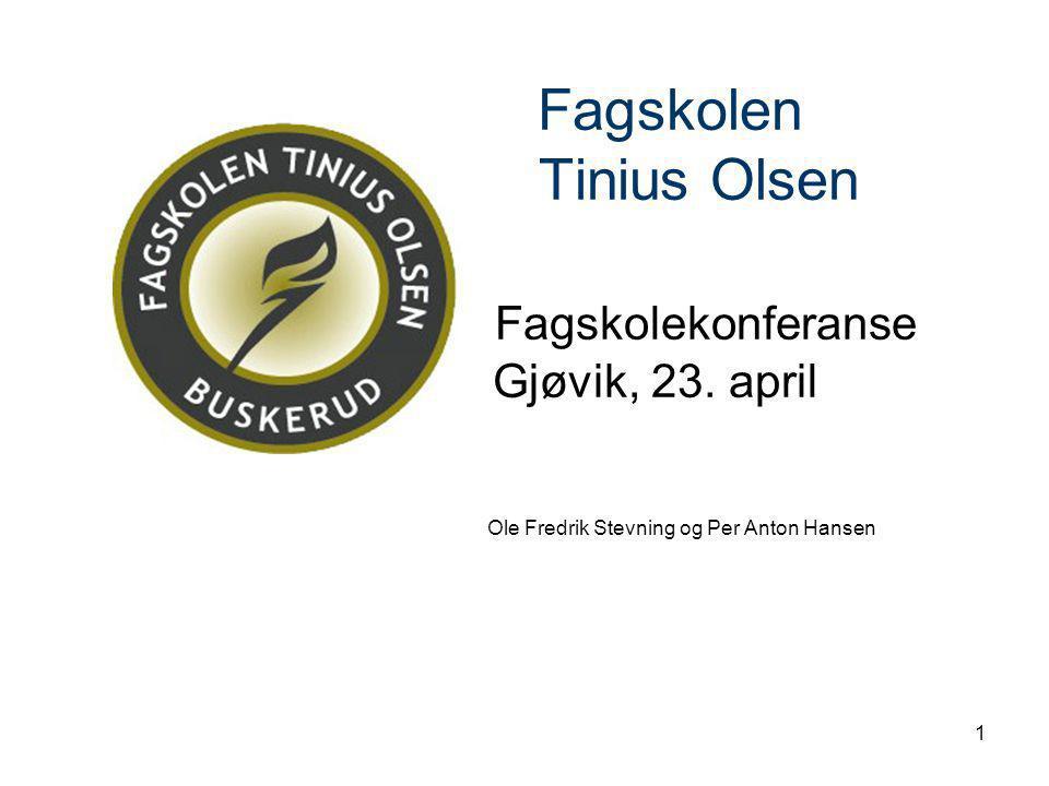 Fagskolen. Tinius Olsen. Fagskolekonferanse. Gjøvik, 23. april
