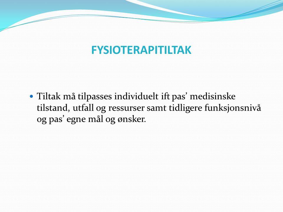 FYSIOTERAPITILTAK