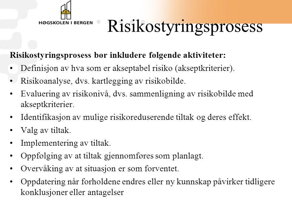 Risikostyringsprosess