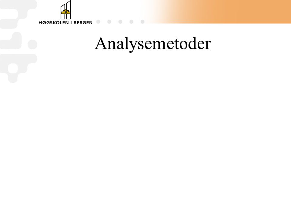 Analysemetoder