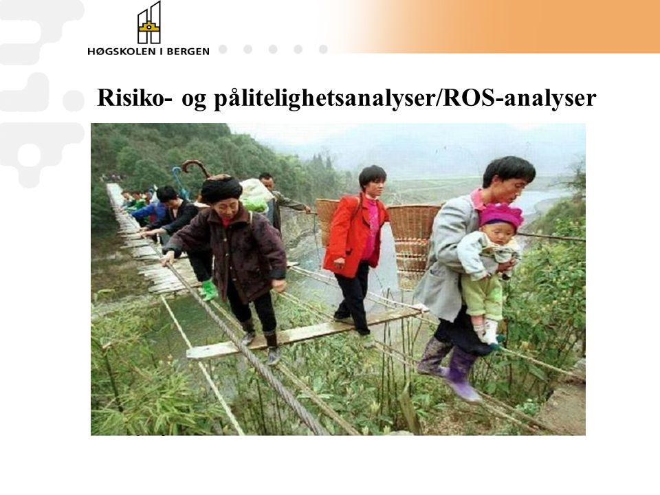 Risiko- og pålitelighetsanalyser/ROS-analyser