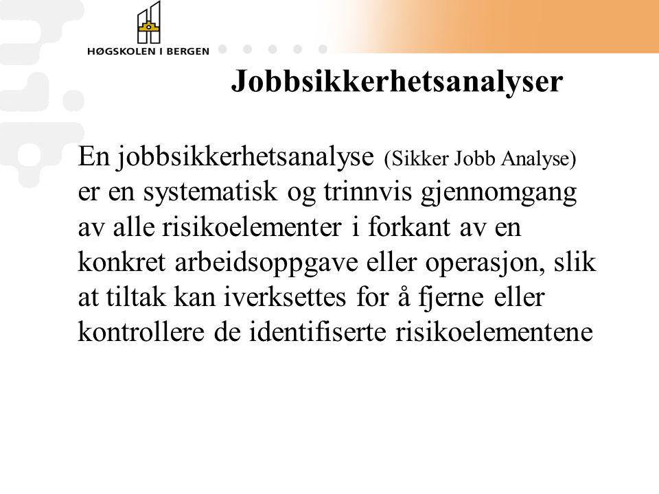 Jobbsikkerhetsanalyser
