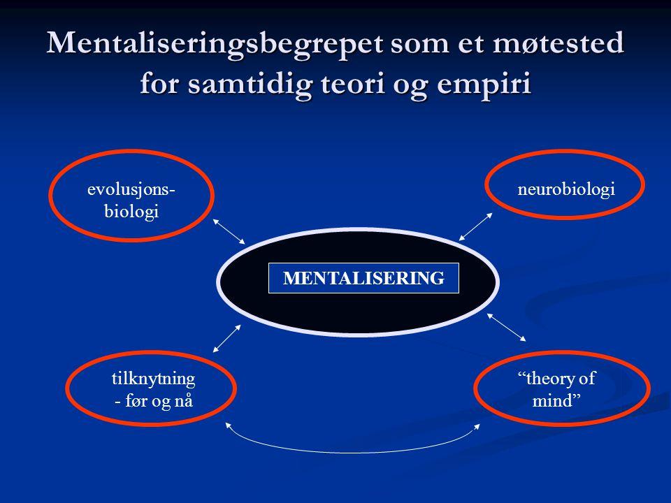 Mentaliseringsbegrepet som et møtested for samtidig teori og empiri