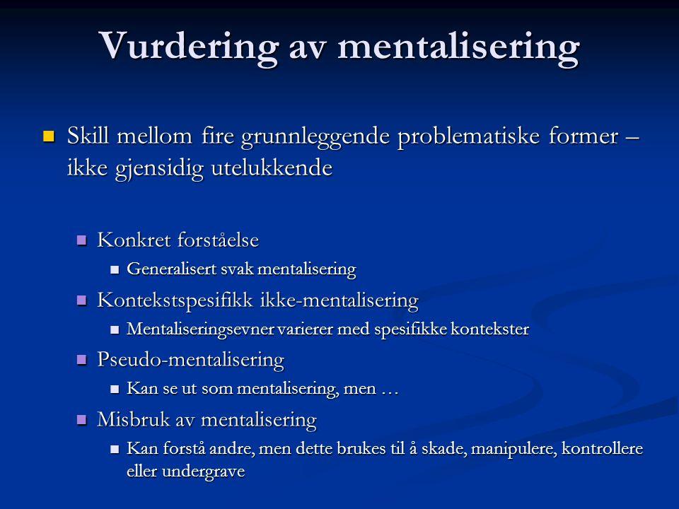 Vurdering av mentalisering