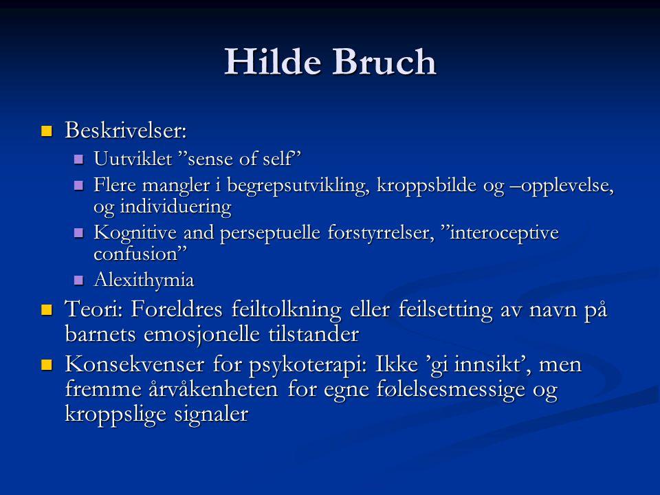 Hilde Bruch Beskrivelser: