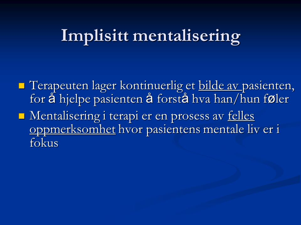 Implisitt mentalisering
