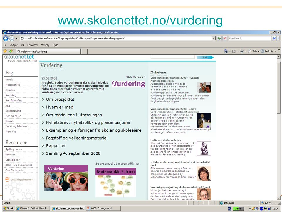 www.skolenettet.no/vurdering