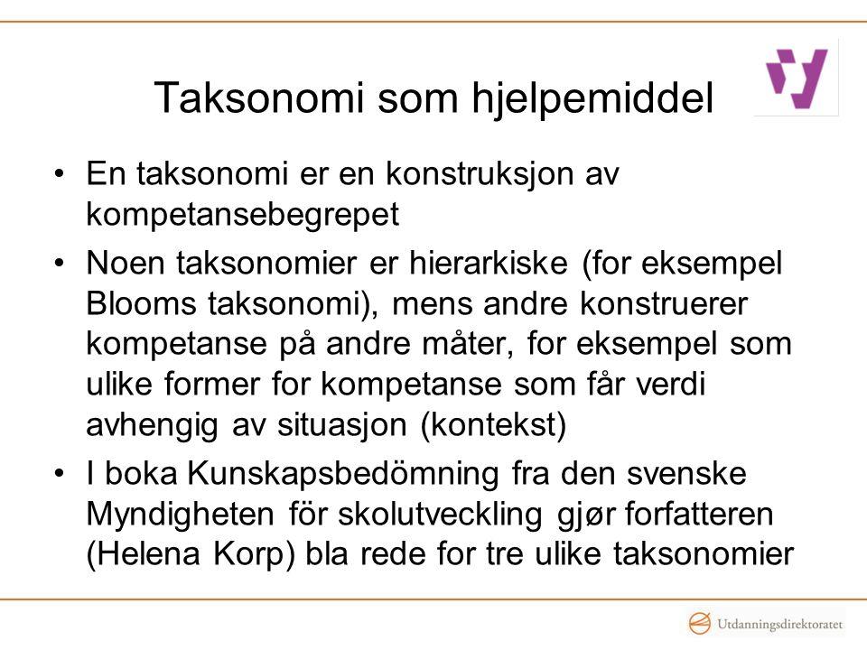 Taksonomi som hjelpemiddel