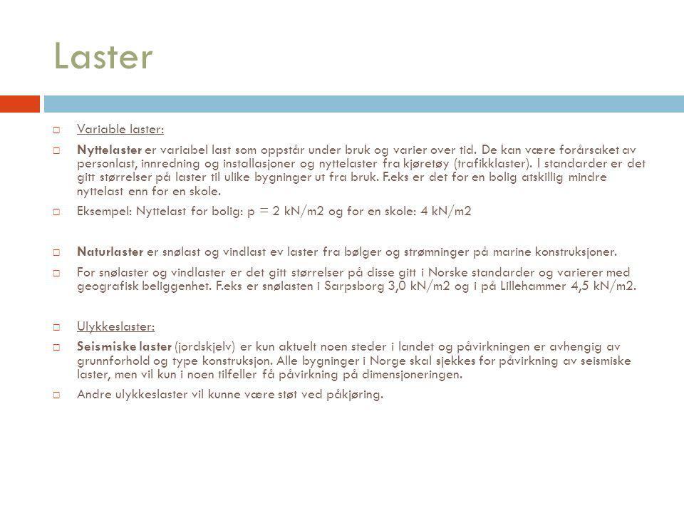 Laster Variable laster: