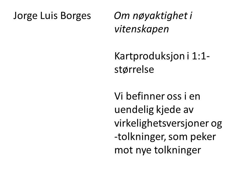 Jorge Luis Borges Om nøyaktighet i vitenskapen